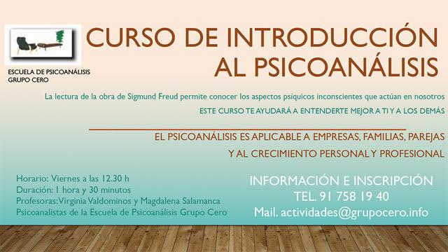 curso introduccion al psicoanalisis