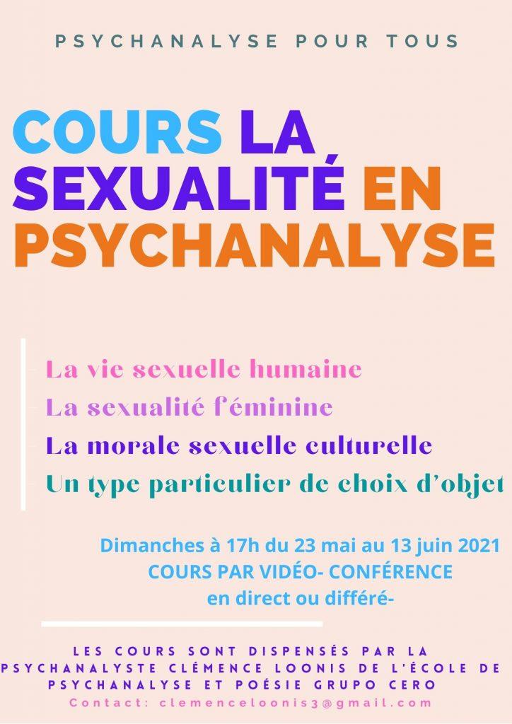Cours la sexualité en psychanalyse